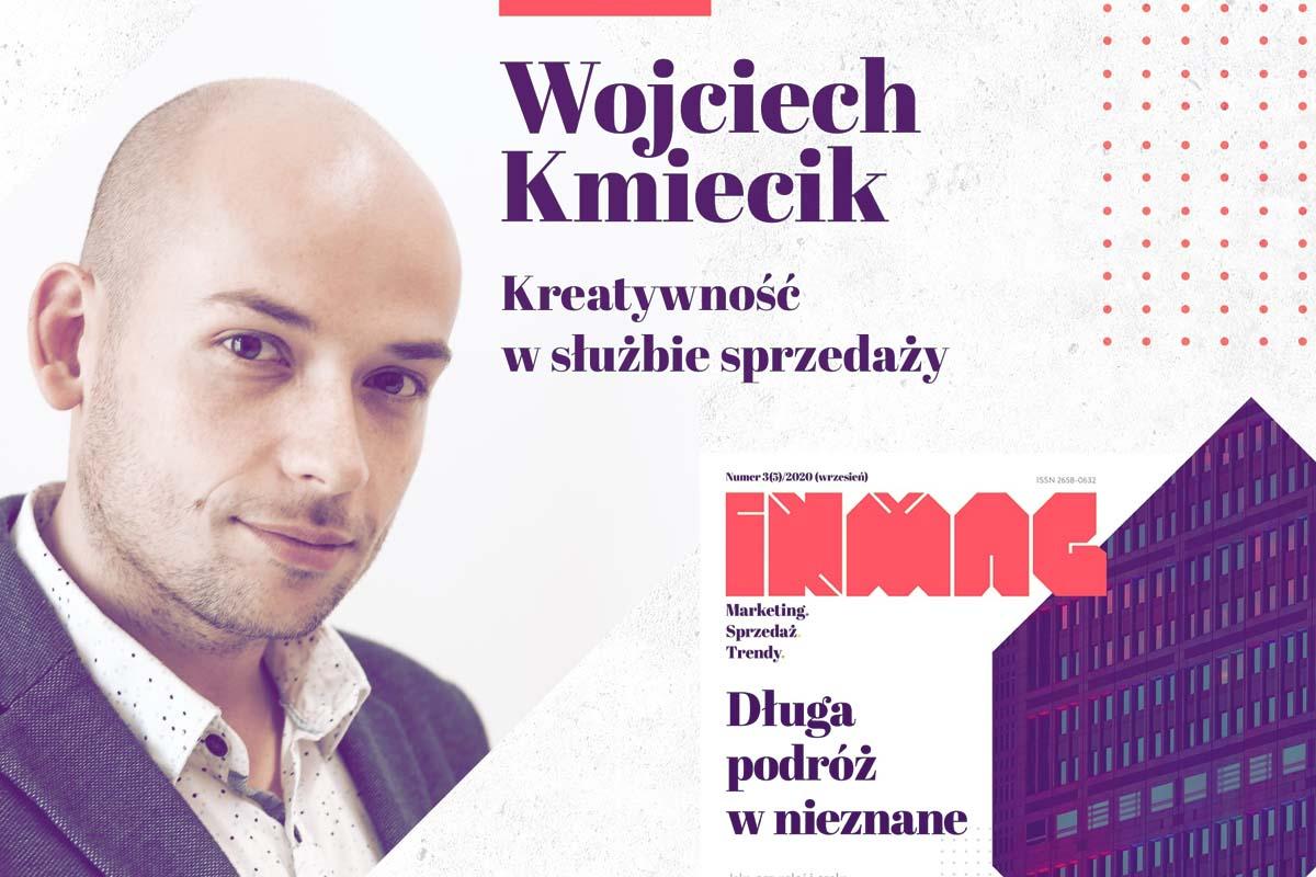 Wojciech Kmiecik w magazynie INMAG